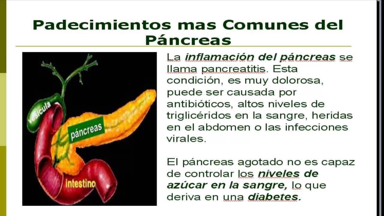 Dieta para pancreatitis y diabetes