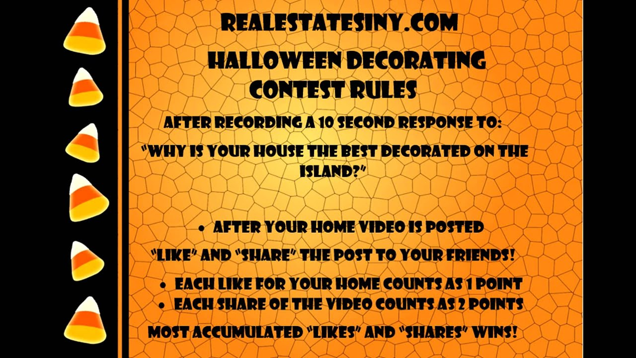 RealEstateSINY.com's Halloween Decorating Contest Rules