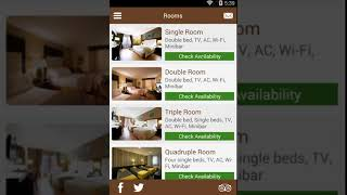 Single Hotel Android application demo video