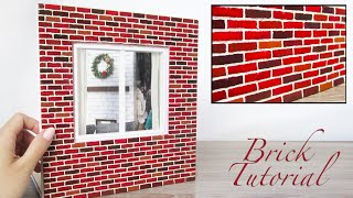 DIY Miniature  Brick Wall