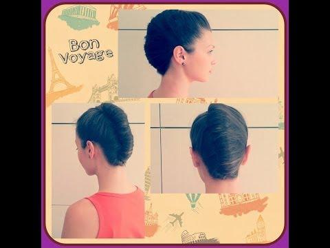 Прическа ракушка в романтическом стиле. Hairstyle shell in a romantic style