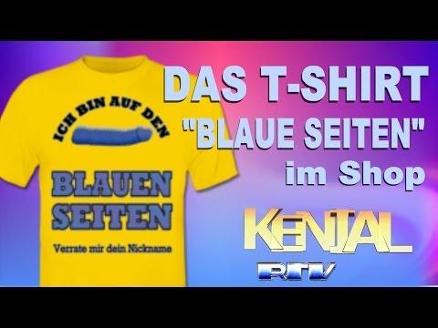 "GayRomeo T Shirt ""Blaue Seiten"" ShirtCityShop RtvMedia Kenial"