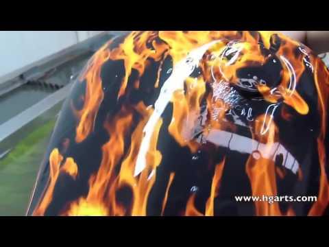Sulu boyama ile araba jantları ve motor kask desenleri nasıl veriliyor