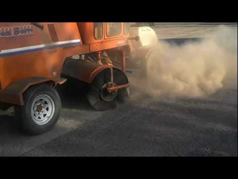 How we clean a dirty parking lot.