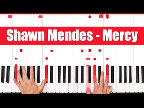 Mercy Shawn Mendes Piano Tutorial - EASY