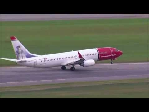 Various Norwegian aircrafts Take off/Landings in Oslo Gardermoen
