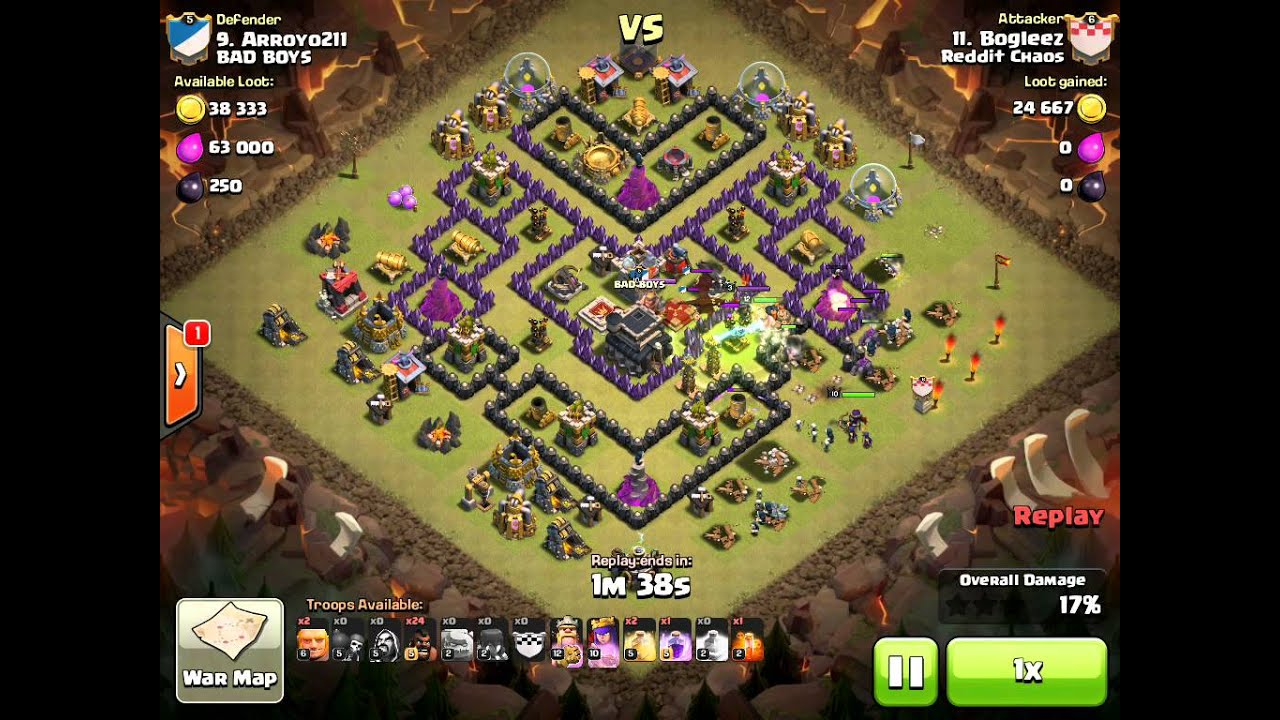 TH9 3-Star using GoHoWiWi - Reddit Chaos - Clash of Clans