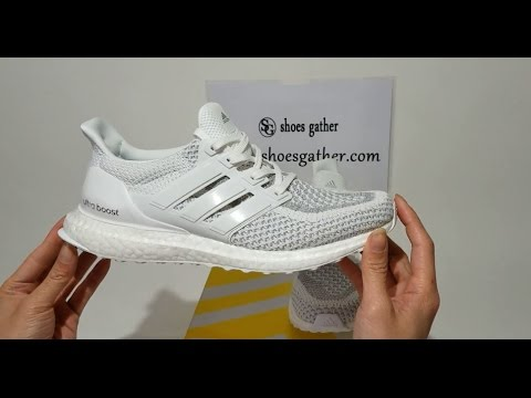 sports shoes 3dce4 848cd UA Ultra Boost Triple Gray White 2.0 Sneaker Shoes Unboxing Review