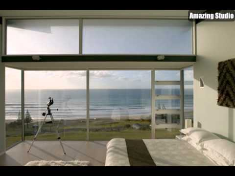 Minimalist Beach House with Bedroom Design