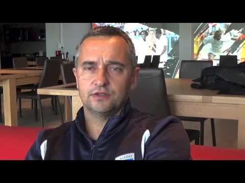 Grand format Jean-Luc Vannuchi entraîneur de l'AJ Auxerroise