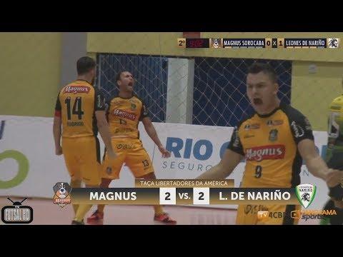 Jogo Completo Magnus 2 x 2 Leones de Nariño - 1ª Rodada Copa Libertadores de Futsal 2018