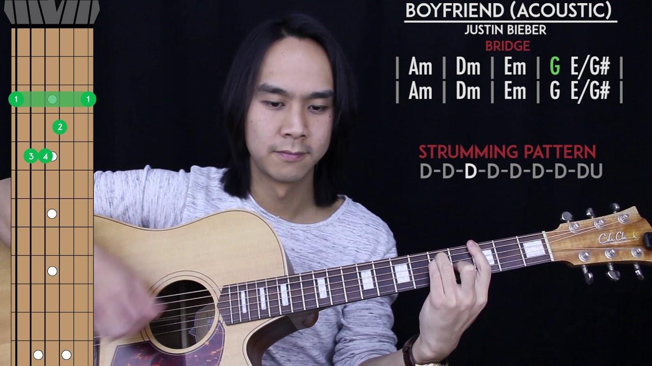 Boyfriend Guitar Cover Acoustic Justin Bieber Tabs Chords