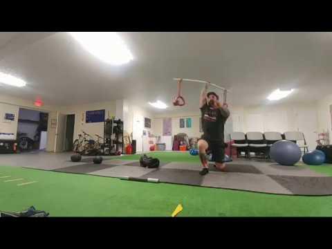 TGU Medley For Strength and Endurance Focus using Fatbells, Sandbag and Monster Bands