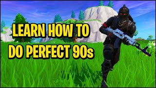 How to Easily Do the Best Fortnite 90's Step by Step (Fortnite Building Tips)