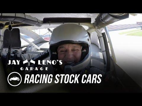 Jay Leno and NASCAR driver Joey Logano Race Stock Cars - Jay Leno's Garage