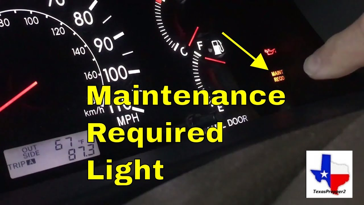 How To Reset The Maintenance Required Light Toyota
