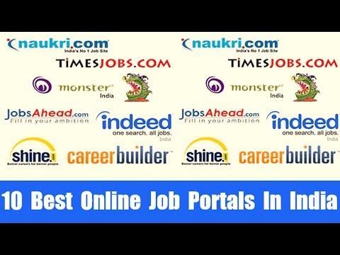 10 Best Online Job Portals In India - YouTube