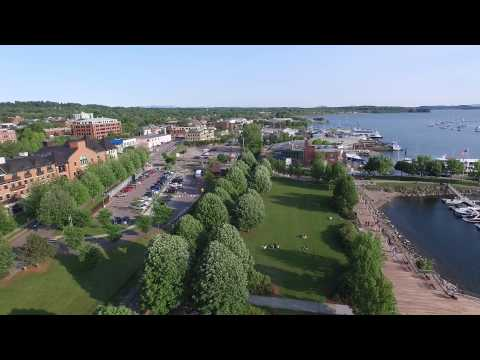 Drone Footage Burlington Waterfront