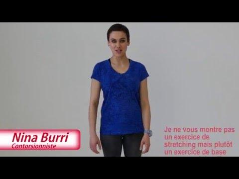 Exercice de fitness de Nina Burri pour La Suisse bouge