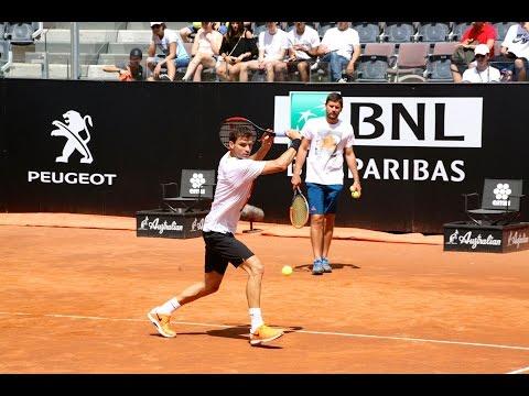 #ibi17 Grigor Dimitrov allenamento con Milos Raonic