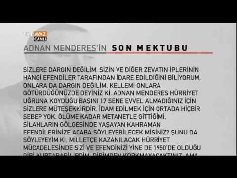 Adnan Menderes'in Son Mektubu - Dünya Gündemi - TRT Avaz