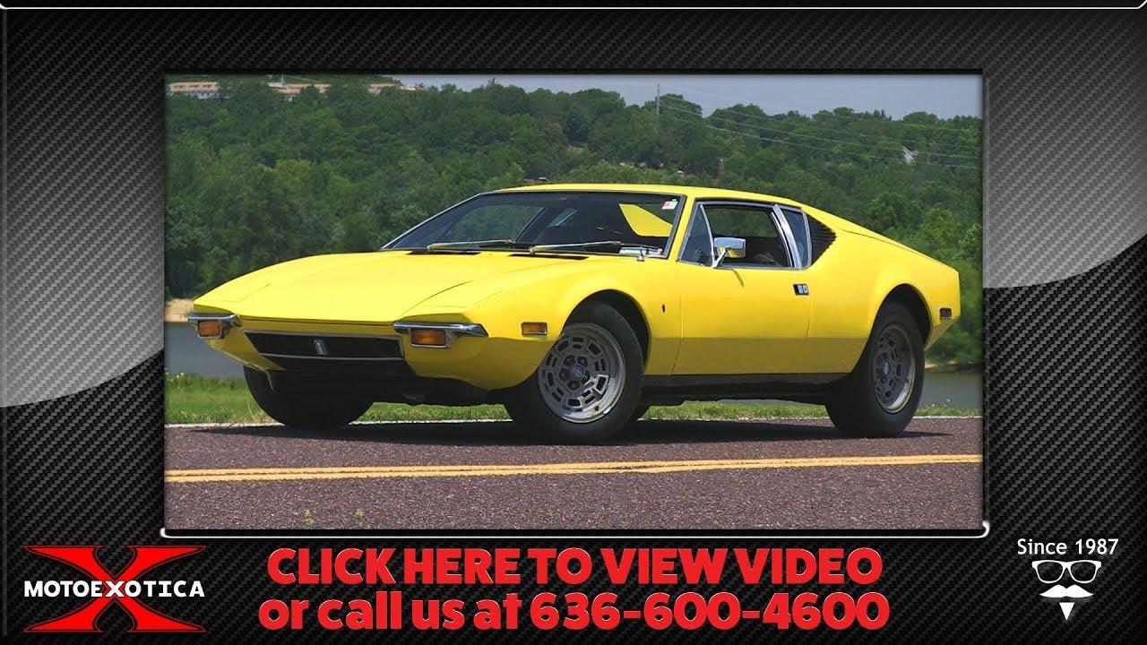 Pantera For Sale >> 1972 Detomaso Pantera For Sale Youtube
