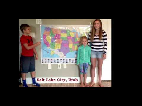 Western United States and Capitals Song