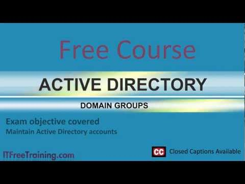 MCITP 70-640: Domain Groups