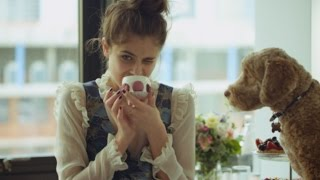 AW16 | A day in the life of Topshop campaign girl Taylor Hill and her dog Tate