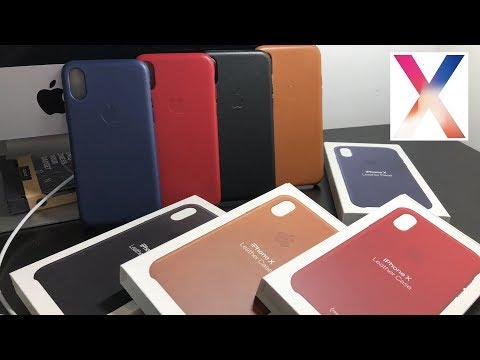Apple Leather Case для IPhone X - обзор чехла за 5000р