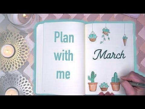 BULLET JOURNAL MARCH 2018 | Plant theme | Mina Jacobsen