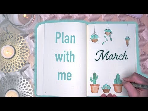 BULLET JOURNAL MARCH 2018 | Plant theme | Mina Jacobsen