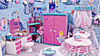 DIY Miniature Dollhouse Room ~ Cinderella Room Decor, Backpack