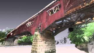Haer Fly-through Of West Union Bridge, Spanning Sugar Creek, Montezuma, Indiana