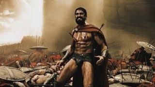 """Гибель Царя Леонида и спартанцев  - """"300 спартанцев"""" отрывок из фильма"""