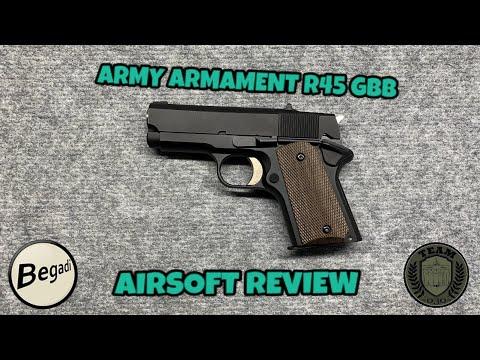 [REVIEW] ARMY ARMAMENT R45 GBB Schwarz