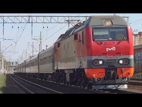 ЧС2К-735 с пассажирским поездом №119 Саранск - Москва