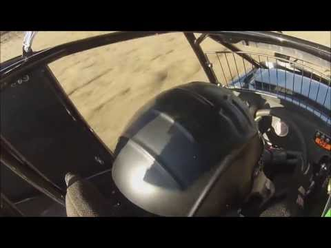 In the Cockpit of Brandon Sletten's  Micro Sprint