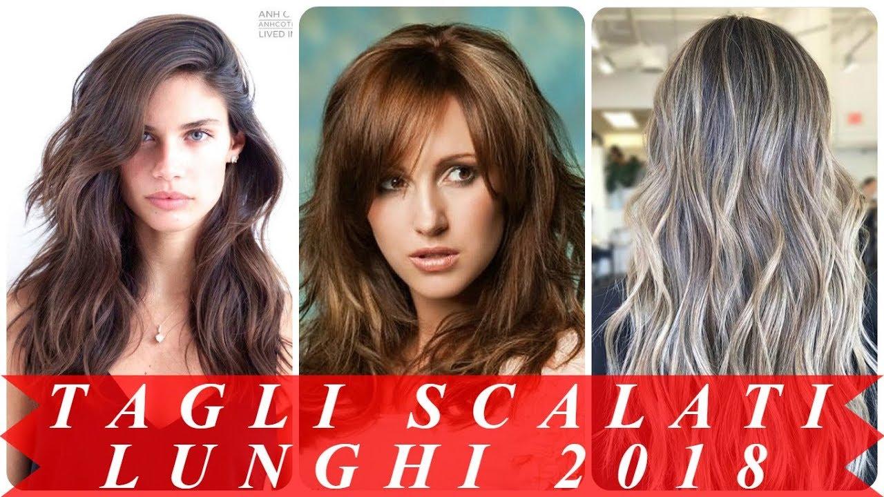 Modelli di tagli capelli lunghi scalati 2018 donna - YouTube c6161a892606