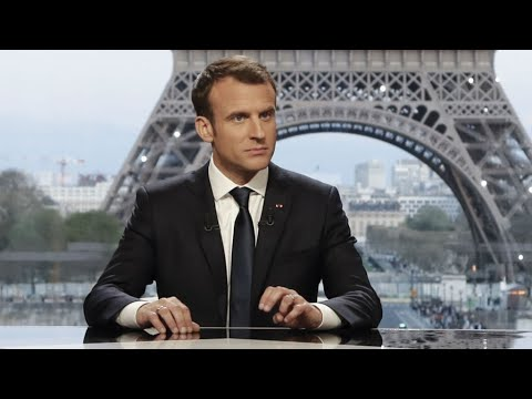French President Emmanuel Macron On Syria Air Strikes Youtube