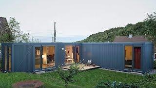L-shaped Modern Container Home By Lhvh Architekten