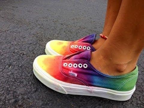 Diy tie dye vans como pintar tus vans multicolor - Colores para pintar ...