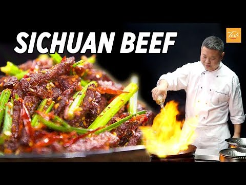 Mouthwatering spicy beef, dry-fried • Sichuan Recipe • Taste Show