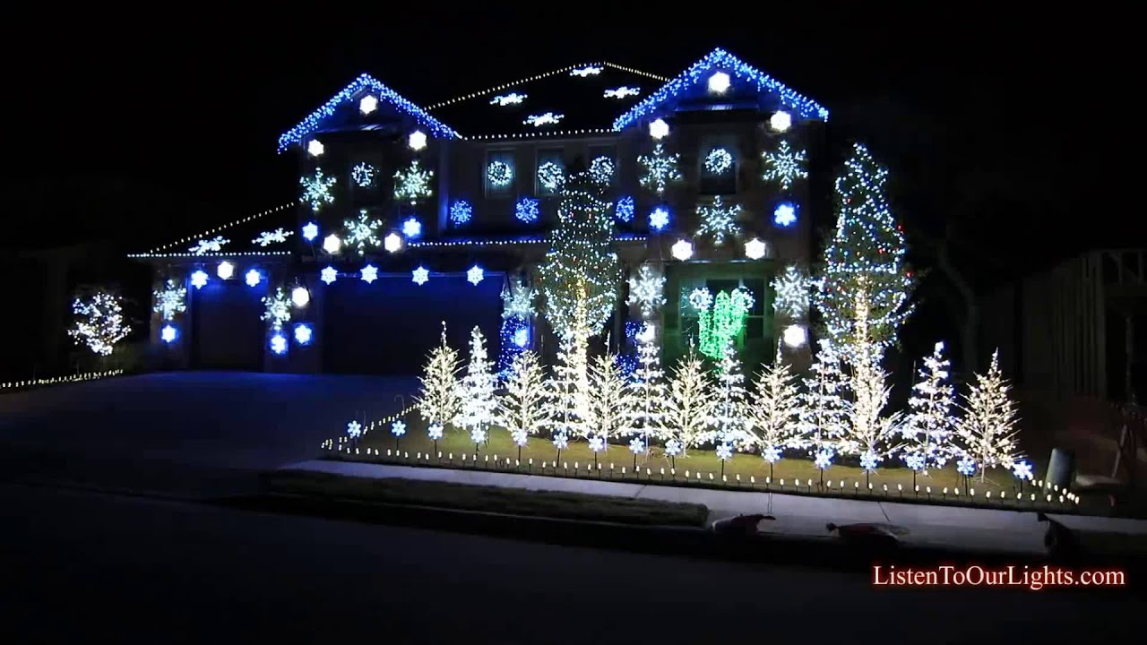 christmas lights gangnam style original youtube - Blue And White Outdoor Christmas Decorations