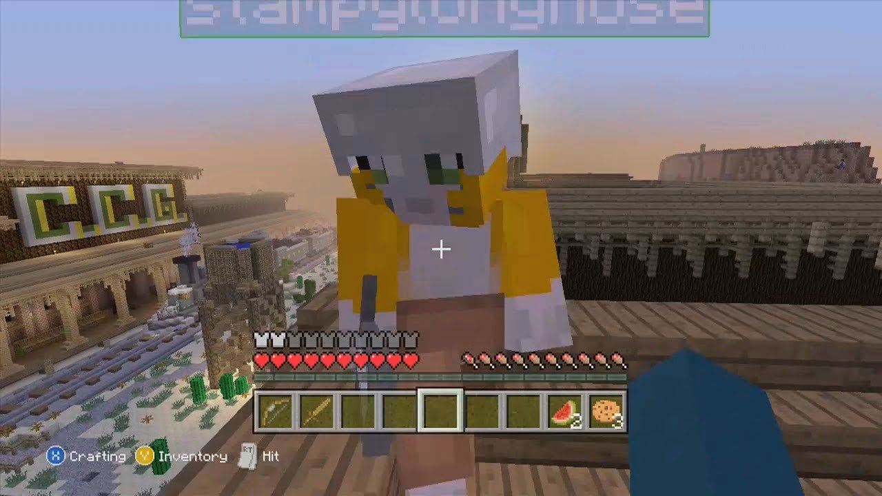 Minecraft xbox 360 creative making the hunger games map youtube.