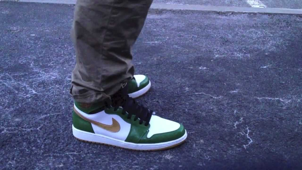 Jordan 1 Hi OG On Feet  Clover   Boston Garden   SVSM  - YouTube 6a578822f5