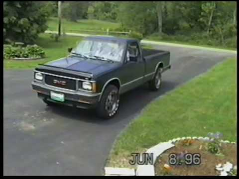 1992 GMC Sonoma 4x4 43L Long Bed - YouTube
