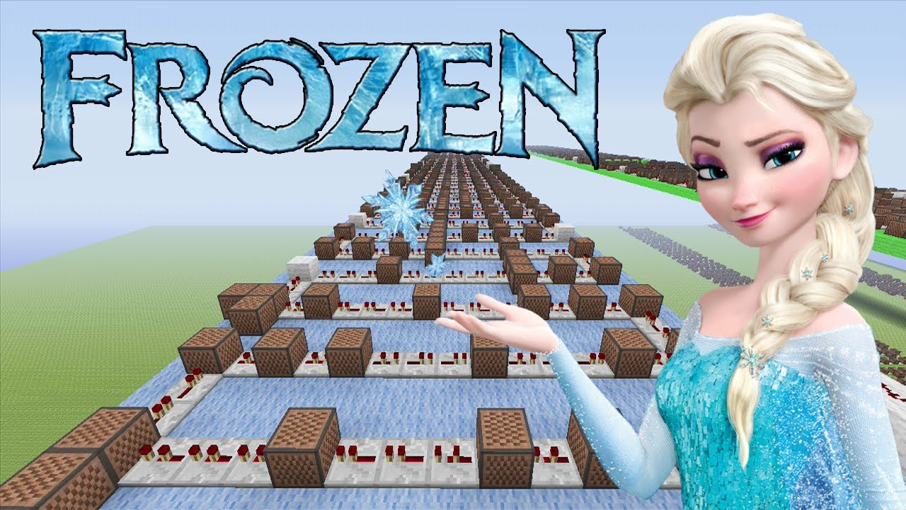 Youtube Frozen Do You Want To Build A Snowman Minecraft