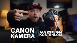 Canon Kamera als Webcam I Kostenlos OHNE Capture Card I Tutorial I 4K