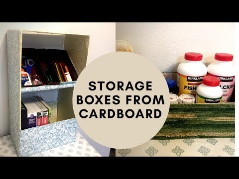 3 Ways to Reuse Cardboard Boxes into Storage and Organizing Items I The Star HomeMaker